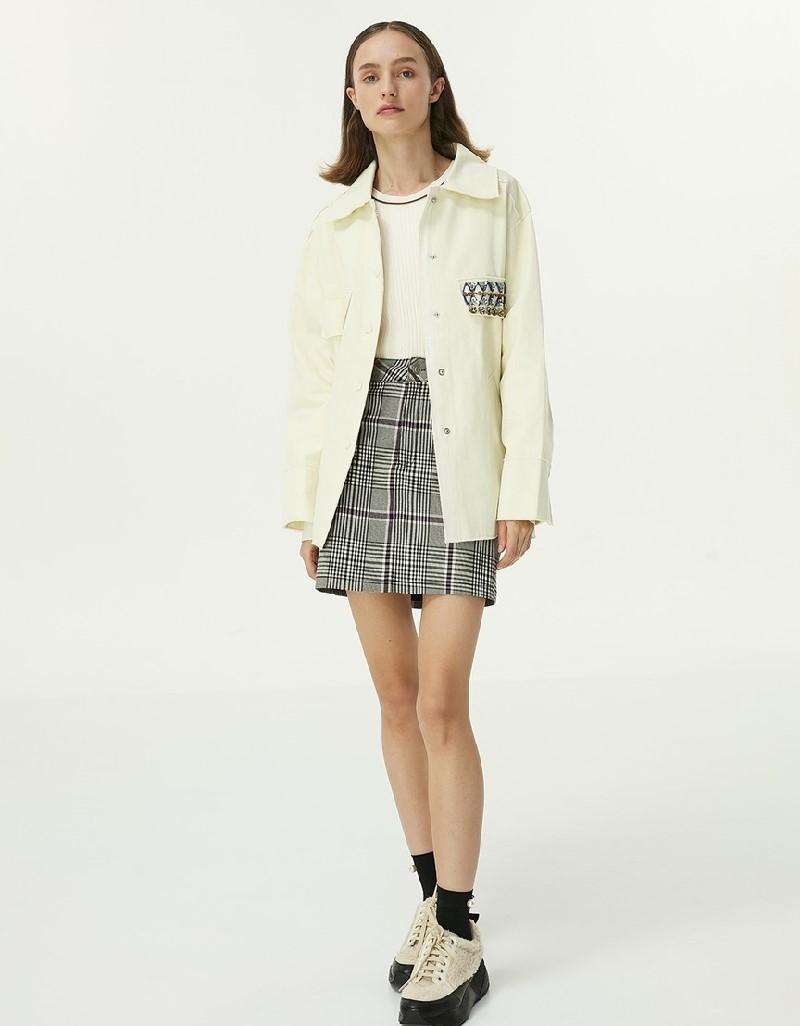 Black Plaid Pattern Skirt