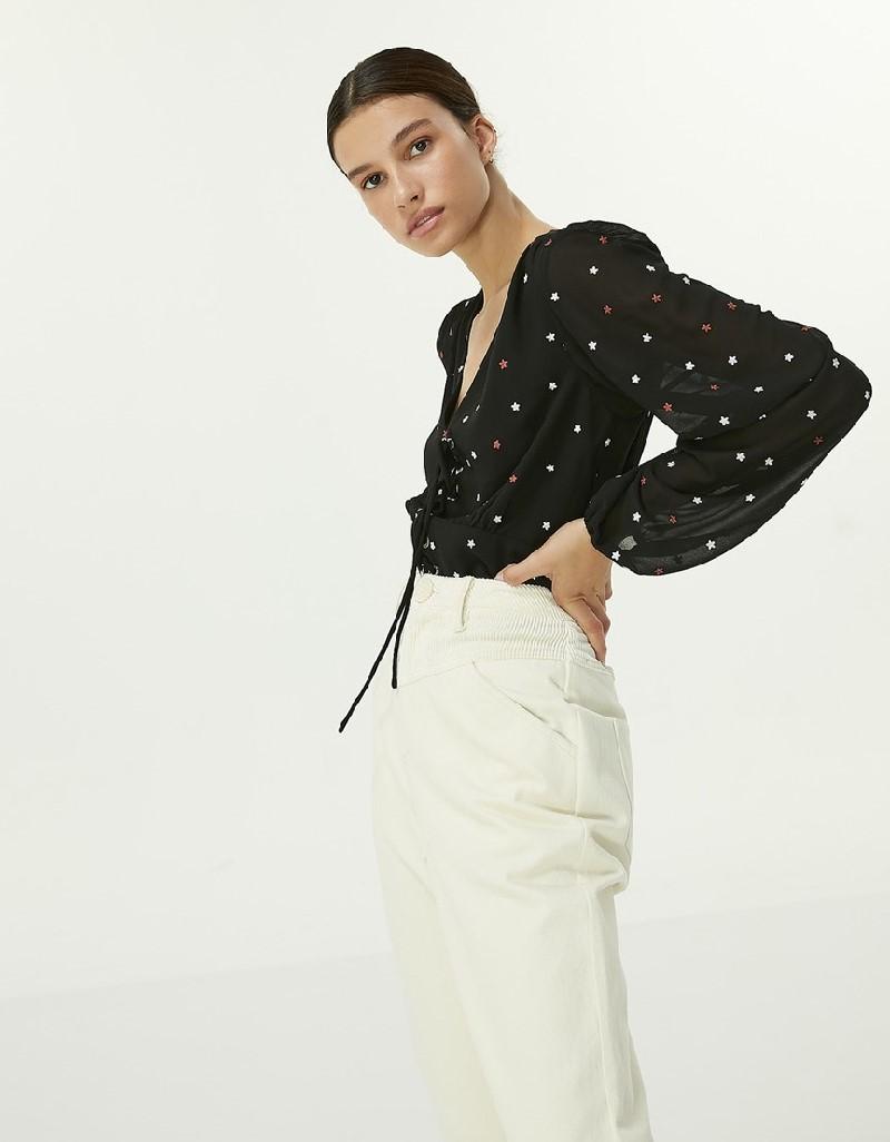 Black Star Pattern Blouse