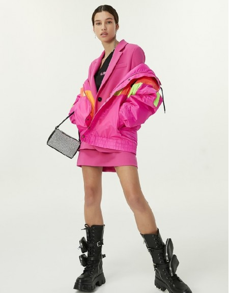 Pink Color Transition Coat