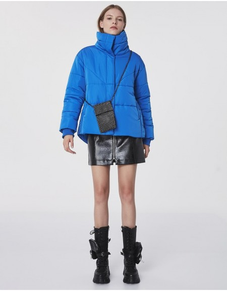 Blue Quilted Coats