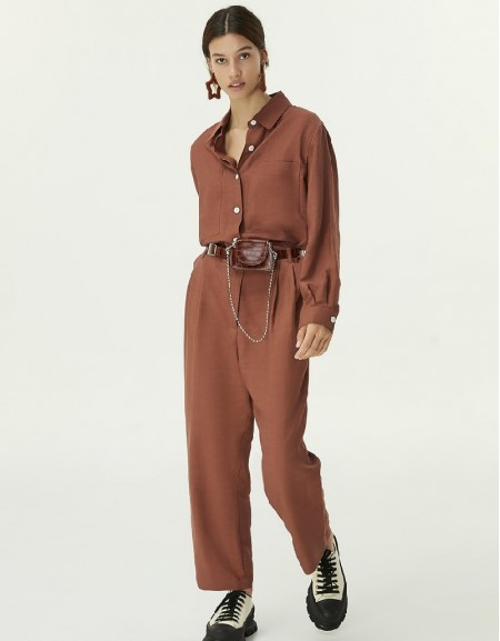 Brown Utility Overalls
