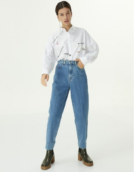 Indigo Mom Fit Jeans
