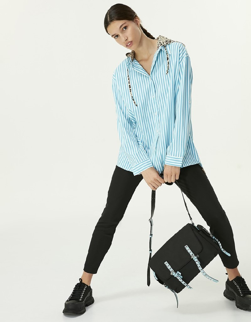 Blue Hooded Shirt
