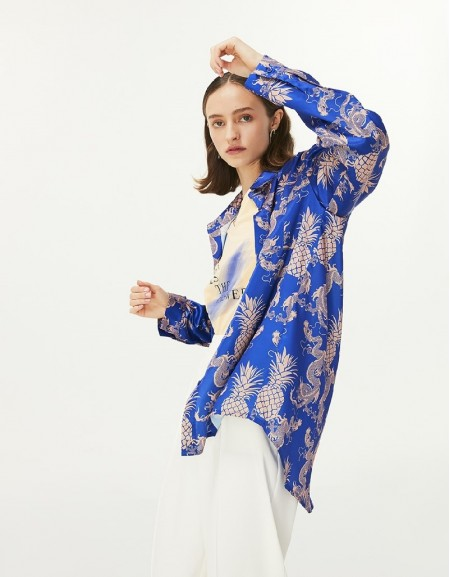 Blue Patterned Shirt