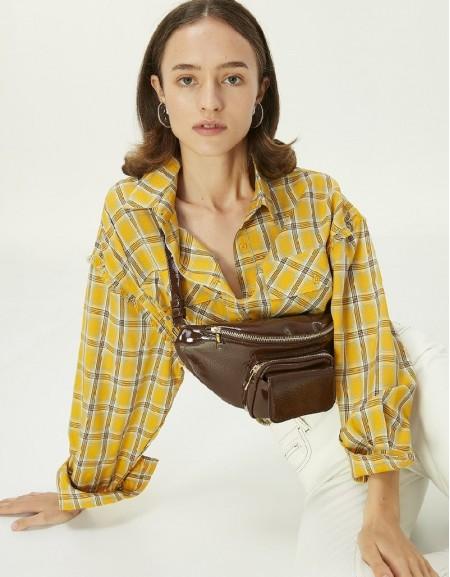 Yellow Plaid Pattern Shirt