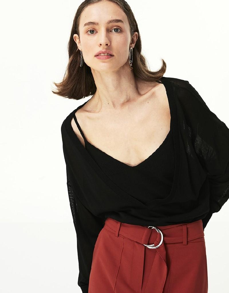 Black Fine Knit Sweater