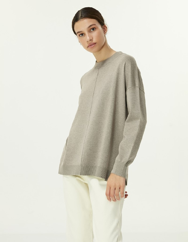 Beige Mlg Basic Sweater