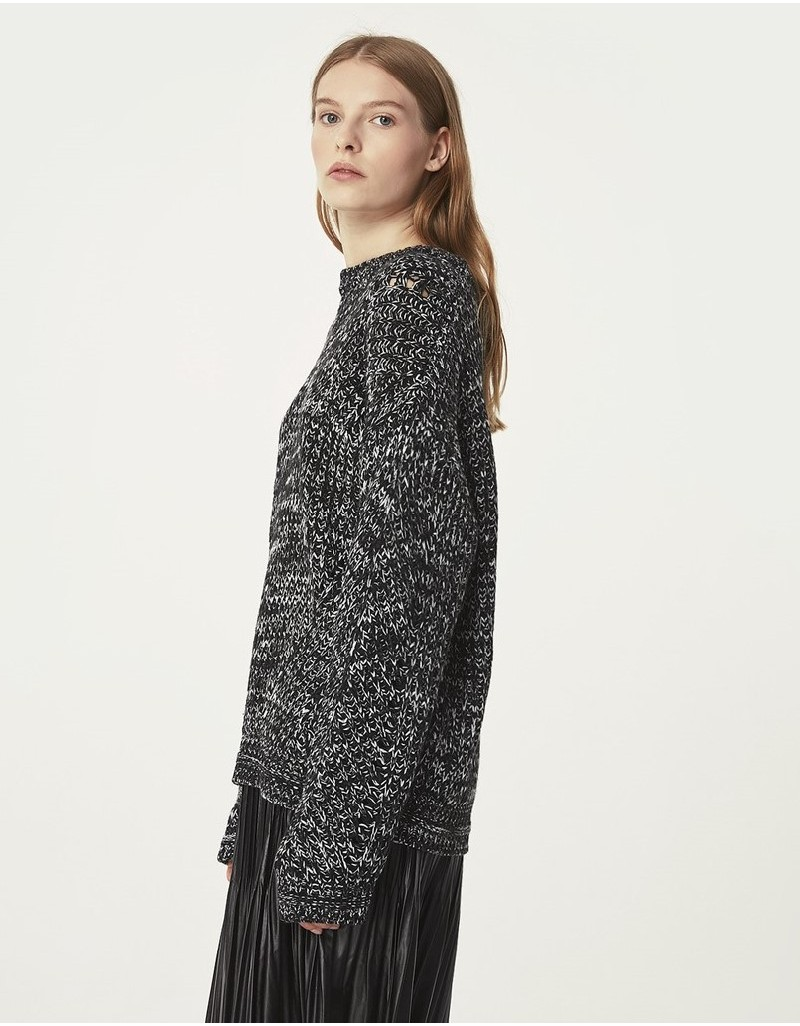 Black Knitted Sweater Black
