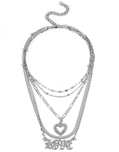 Silver Multi Necklace With Slogan