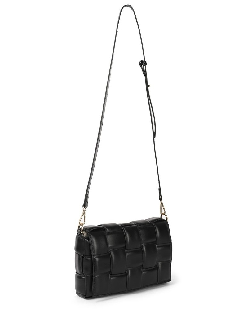 Black Knitted Form Sleeve Bag