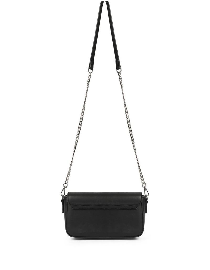 Black Slogan Trok Print Sleeve Bag