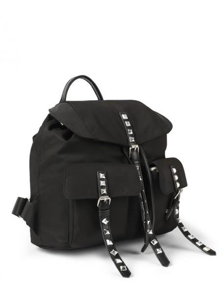Black Trok Print Backpack