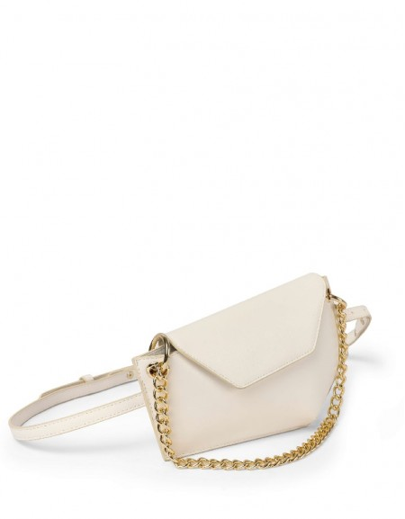 White Bag With Chain Accessories