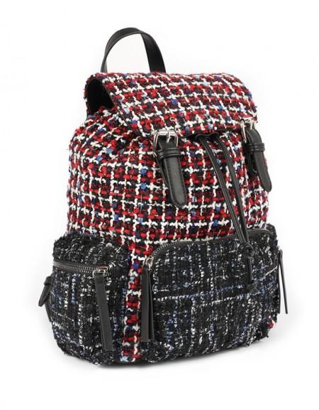Red Tweed Backpack
