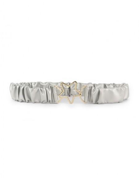 Silver Star Buckle Belt