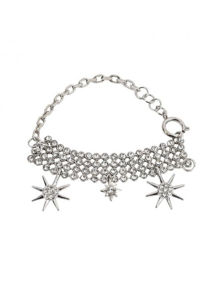Silver Star Pendant Bracelet