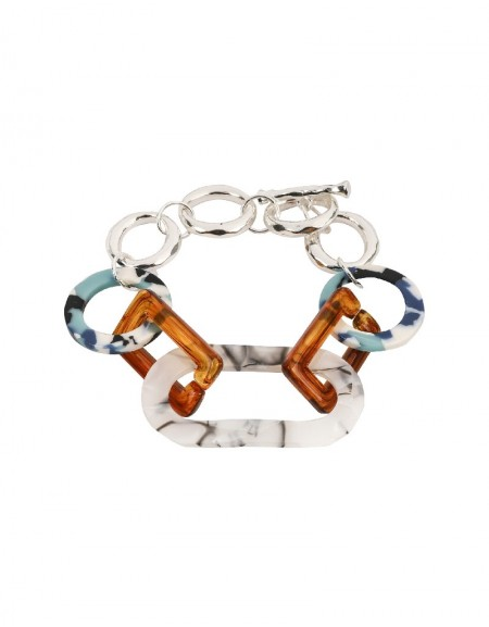 Mixed Mother-Of-Pearl Ring Transition Bracelet
