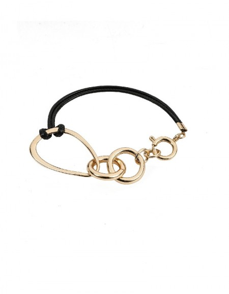 Black Ring Toggle Bracelet