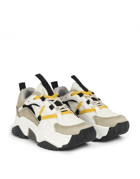White Sneaker Homogeneous Colors