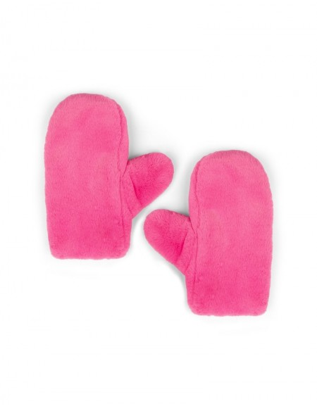Pink Pink Fur Gloves