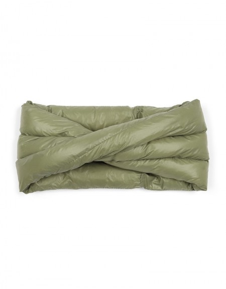 Khaki Quilted Neck Collar