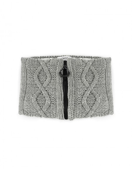 Gray Knitted Neck Collar