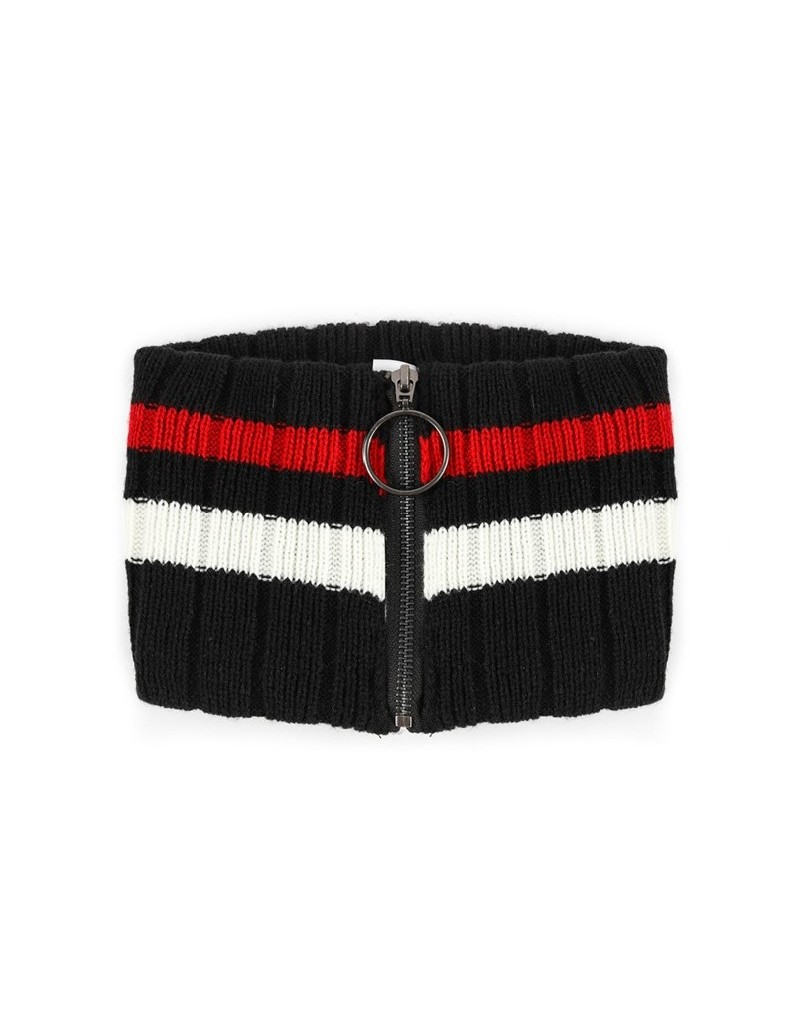 Black Knitted Neck Collar