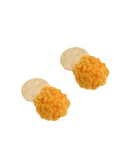 Yellow Plush Dangly Earrings