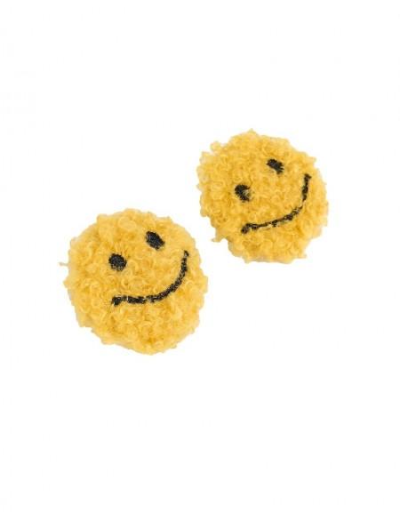 Yellow Smile Figure Earrings