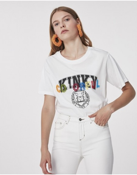 White Slogan Print T-Shirt