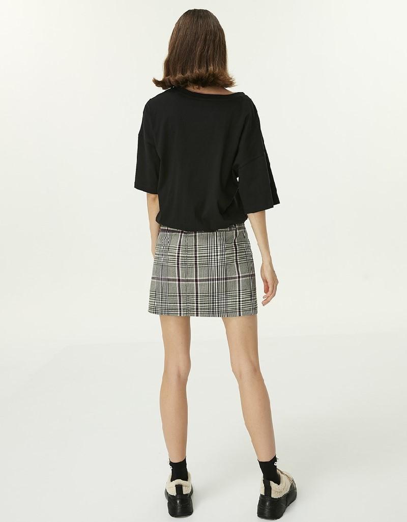 Black Adjustable waist t-shirt