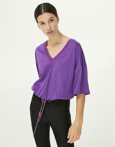 Purple Adjustable Waist T-Shirt
