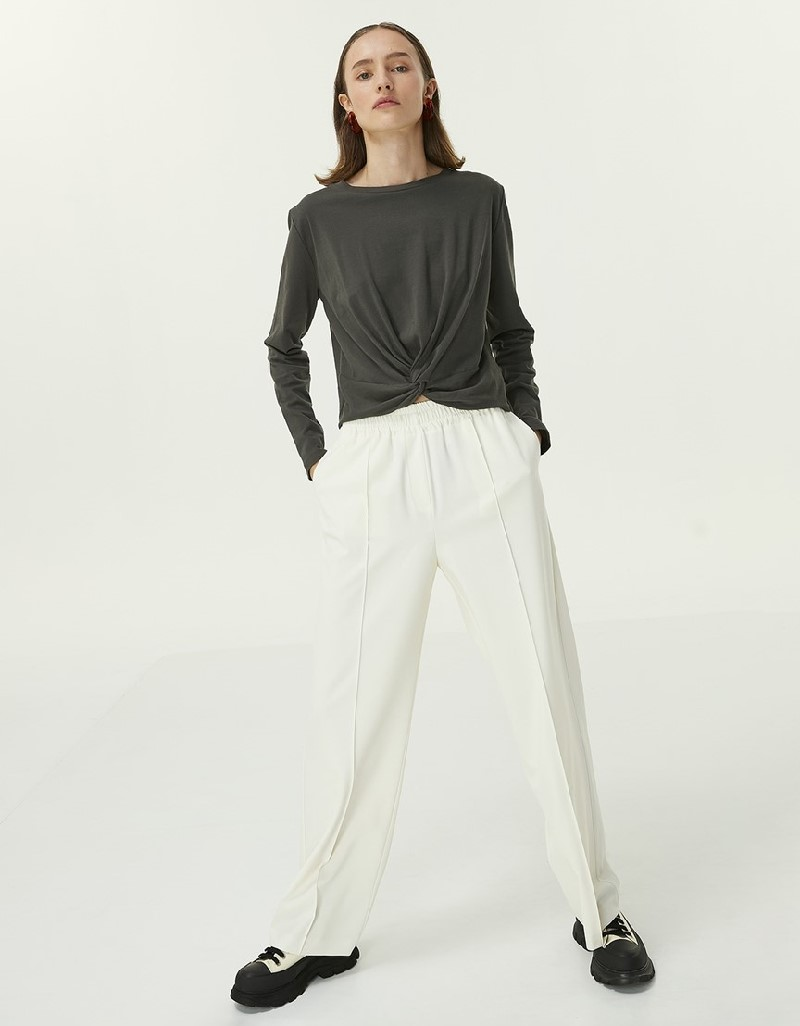 Anthracite Gather Detail Blouse