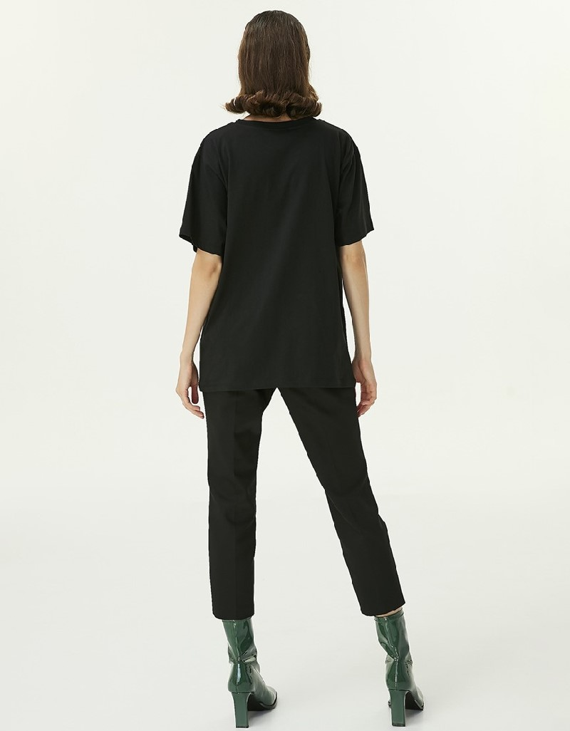 Black Visual Print T-Shirt