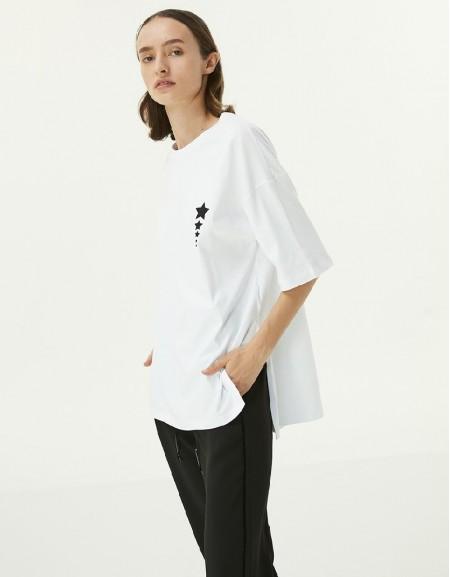 White Star Print T-Shirt