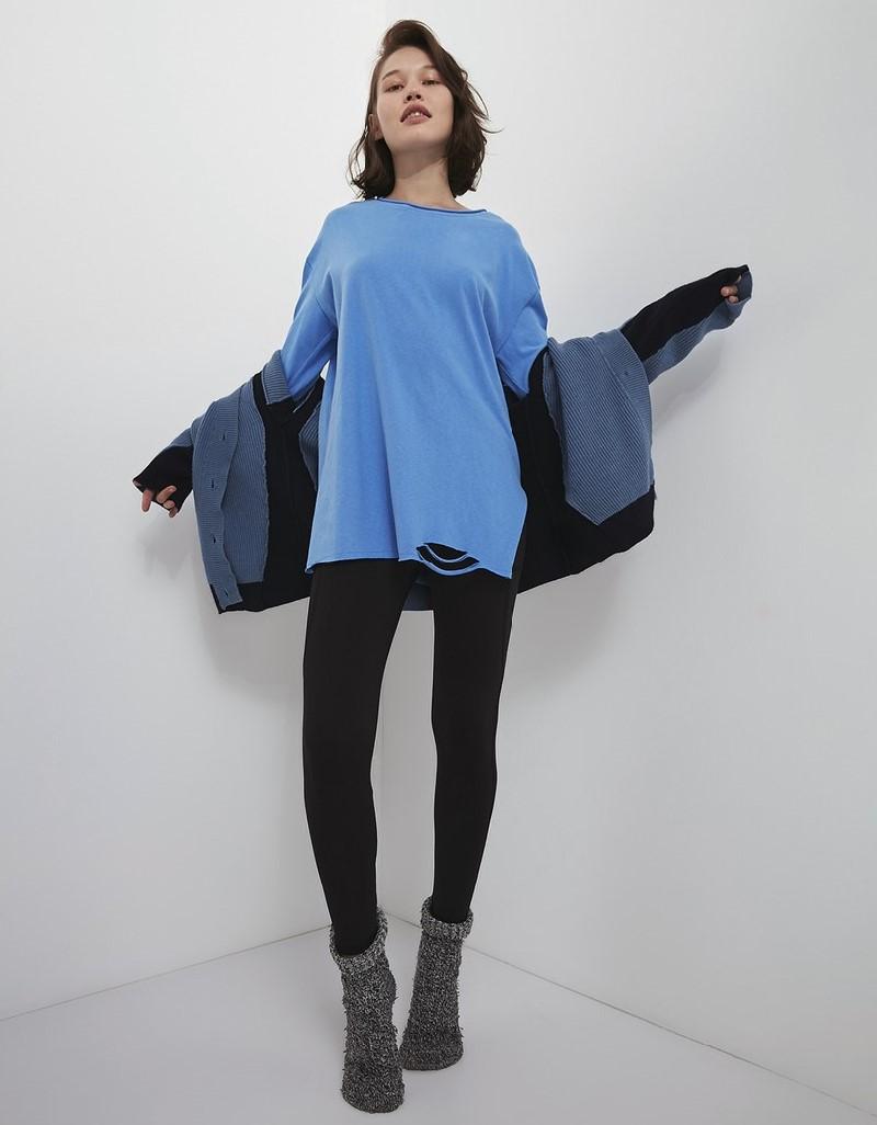 Blue Basic Sweatshirt