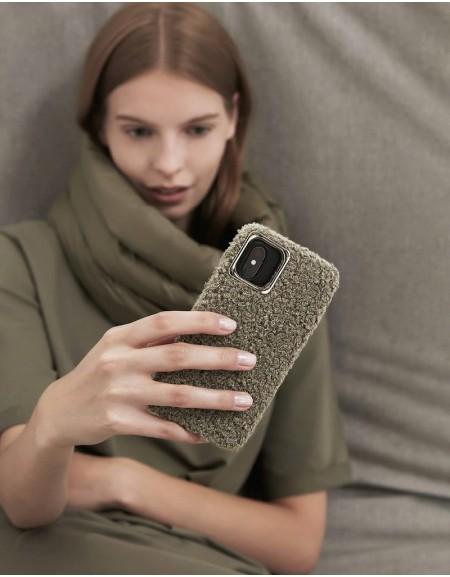 Green Plush-Coated Phone Case