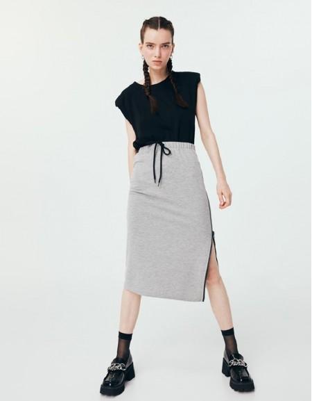 Gray Jogging Skirt