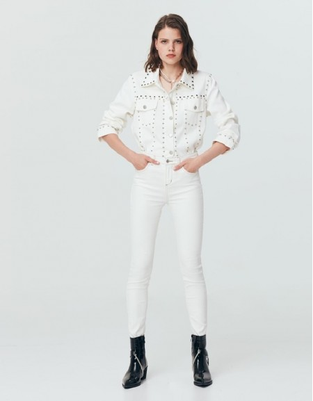 Beige Skinny Fit Jeans