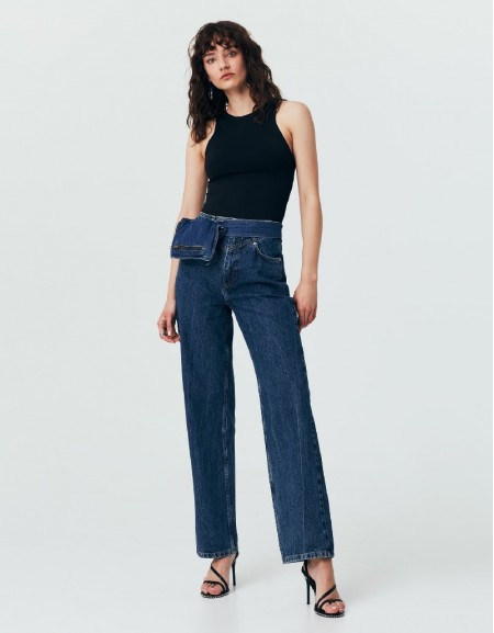 Blue High Rise 80S Jeans