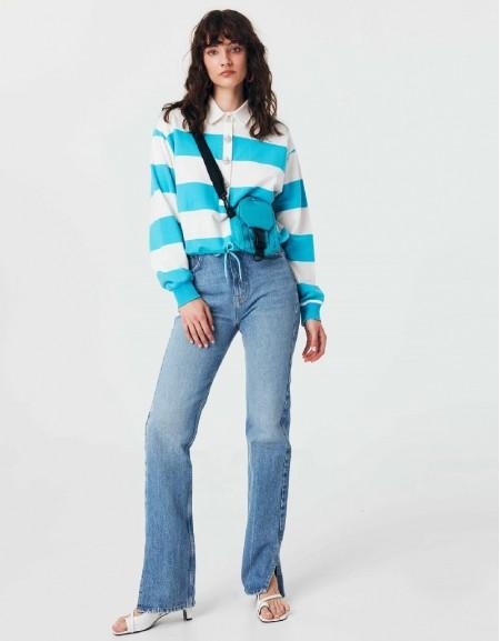 Blue Striped Sweatshirt